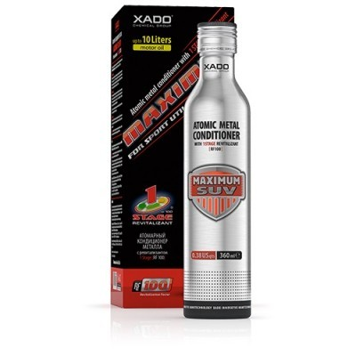XADO® Atomic metal conditioner 1 Stage Maximum  for SUV (box, bottle 360 ml)