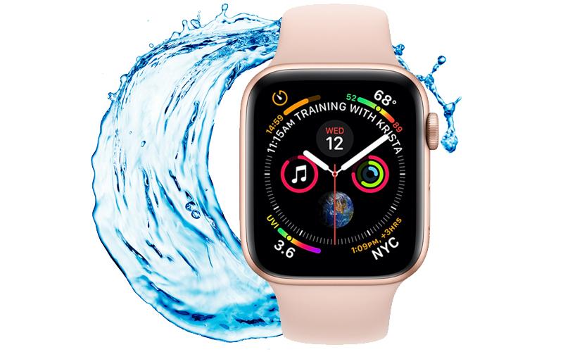 Apple Watch S4 GPS 40mm Viền Nhôm dây cao su màu hồng (MU682VN/A) - kết nối tai nghe