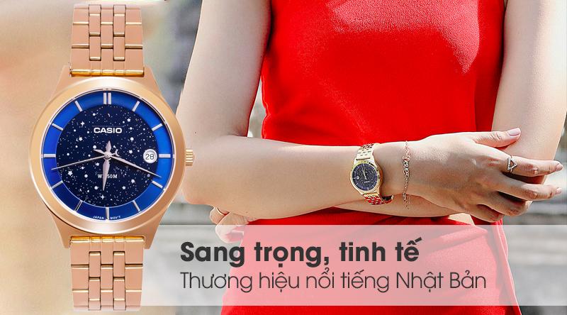 Đồng hồ Nữ Casio LTP-E141G-2AVDF thiết kế nổi bật
