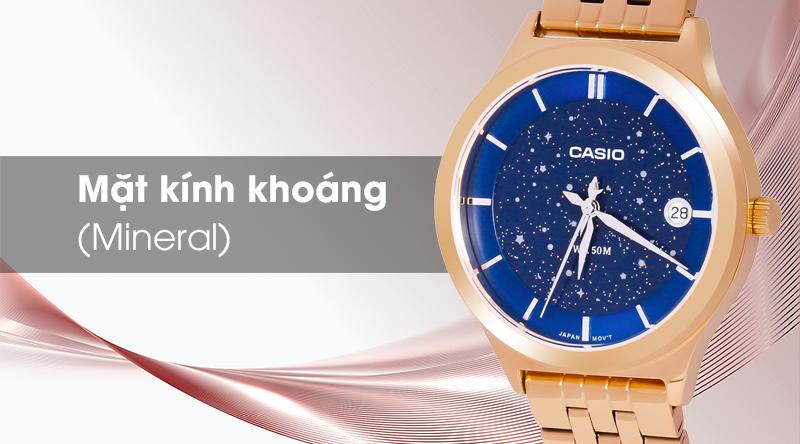 Đồng hồ Nữ Casio LTP-E141G-2AVDF có kính khoáng trong suốt