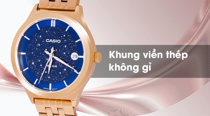 Đồng hồ Nữ Casio LTP-E141G-2AVDF với khung thép không gỉ