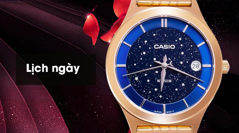 Đồng hồ Nữ Casio LTP-E141G-2AVDF trang bị thêm lịch ngày tiện ích