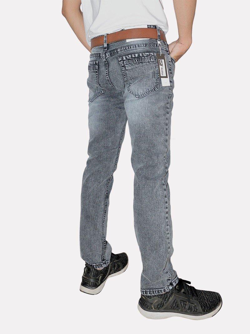 Jeans nam wash bạc trắng đen
