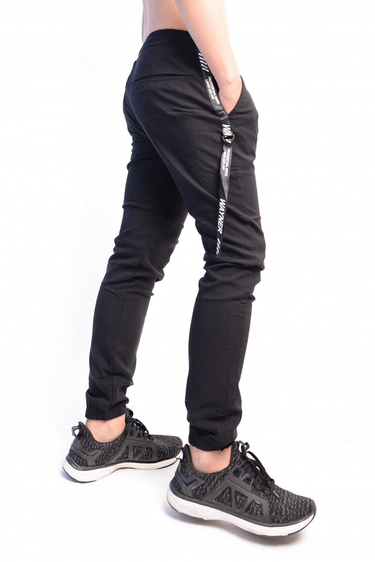 quần jogger kaki đen thun 2 dây đeo