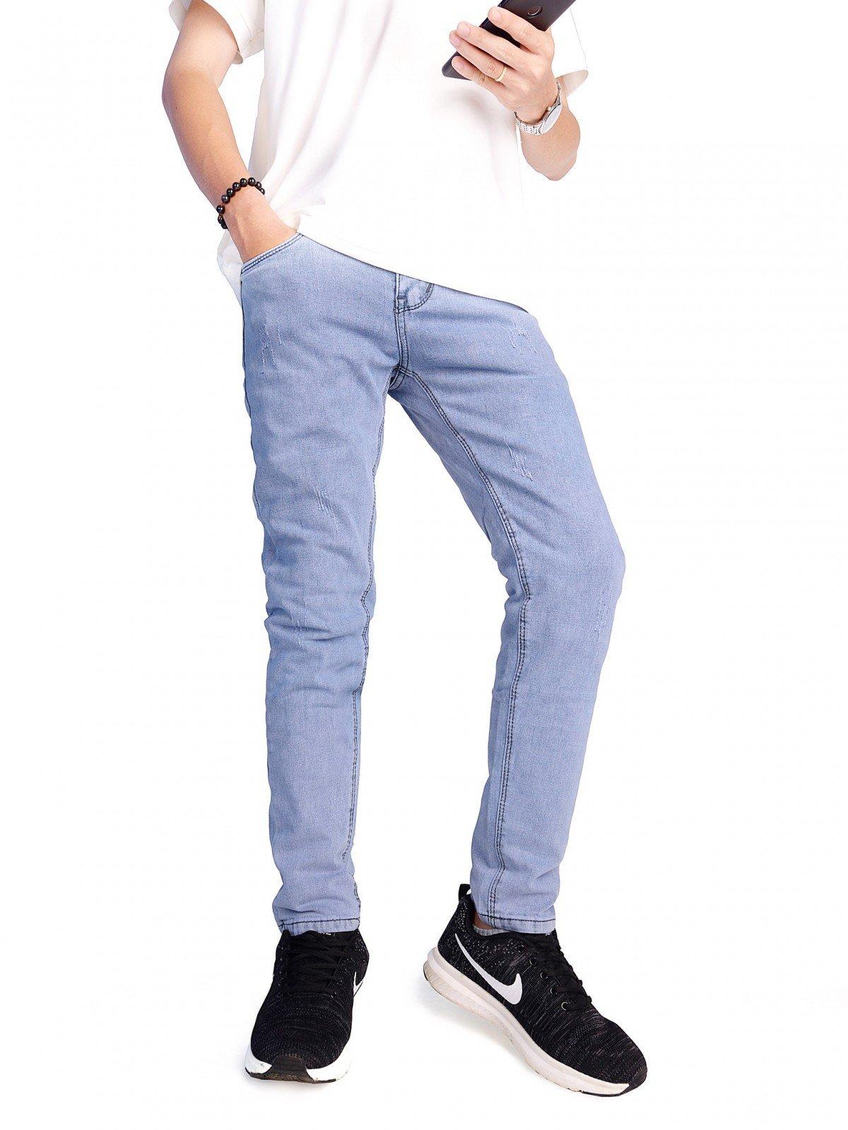 quần jean nam trắng bạc