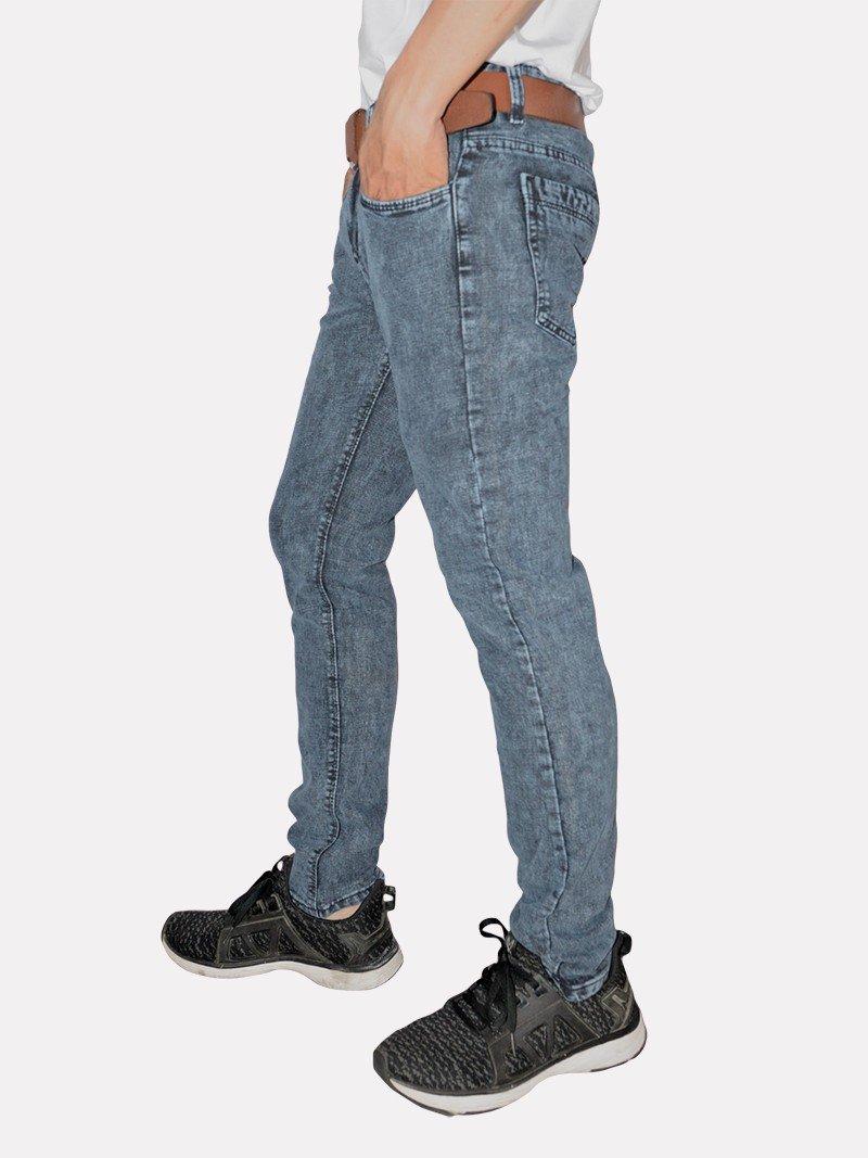 quần jeans nam xám nhung