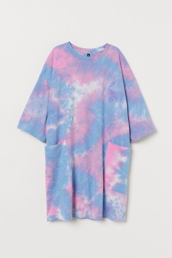 áo thun nhiều màu tie dye