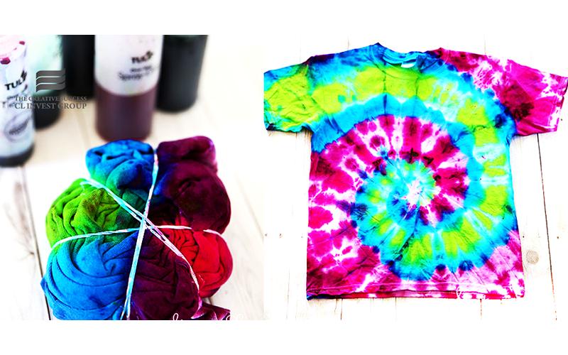 Phối màu Tie Dye