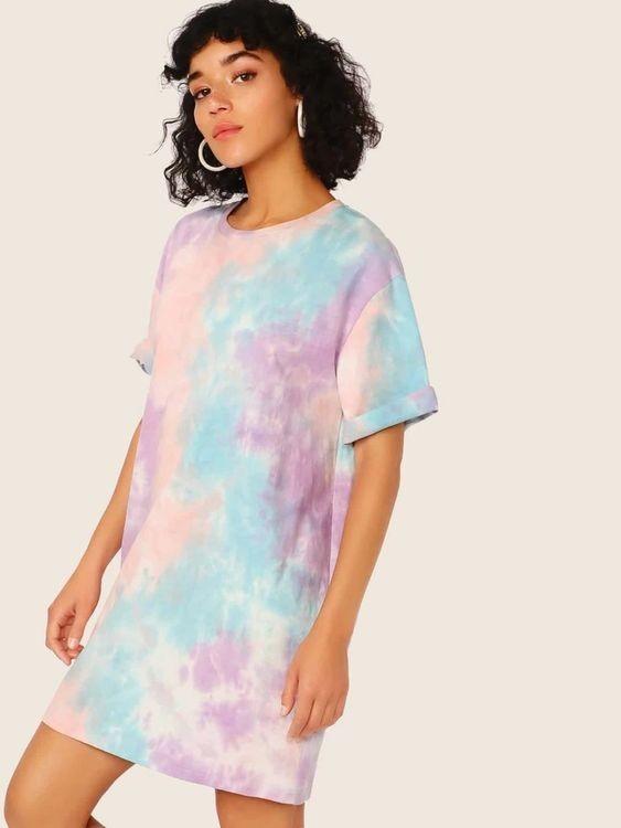 nhuộm áo thun tie dye pastel